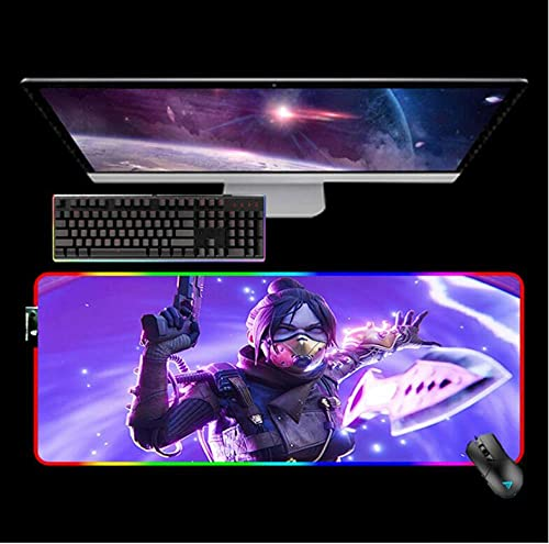 """Mouse Pads Apex Legends RGB Gaming Mouse Mat Setup Gamer Mouse Pad with Backlight Keyboards Computer Office 15.75""""X31.50"""""""