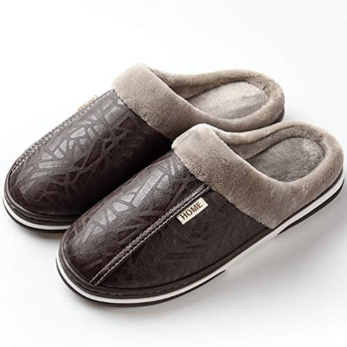 [WOTTE] スリッパ ルームシューズ 室内履き ボア付き 暖かい 防水 保温 滑り止め 冬用サンダル 男女兼用