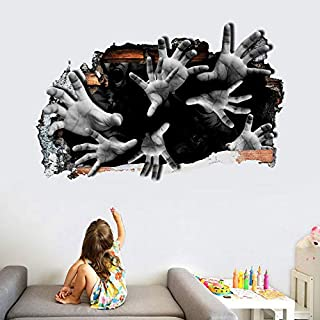 Holly LifePro 3D Party Supplies Halloween Horror Horrible Peel and Stick Decal Wall Sticker for Bar Living Room Home Party...