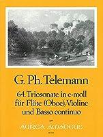 TELEMANN - Trio Sonata en Mi menor (TWV:42/e10) para Flauta, Violin y BC (Partitura/Partes)