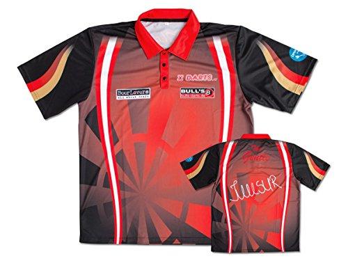 Unbekannt Bull's Dartshirt Dart Polo Shirt Mensur Suljovic rot-schwarz Gr.XS