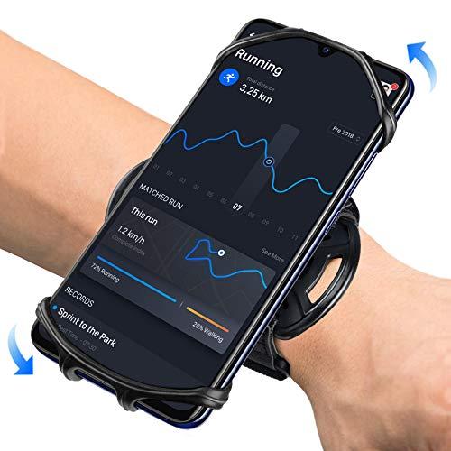 HLOMOM アームバンド ランニングアームバンド 360度回転 スマホ腕ホルダー 4-6.5インチiPhone/Android全機種に適用 通気 防汗