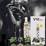 Mini Glass Blunt, New Pipe 3in1 Twisty Blunt Mini, Pipa per fumatori di tabacco, erbe secche, tè, foglie di erbe e spezie, tascabile e facile da pulire