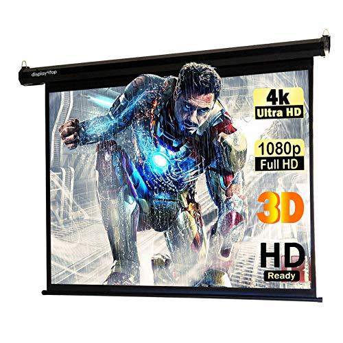 Dawoo 60 -Zoll -Projektionsfläche 4:3 hochauflösende Faltbare, tragbare Projektor -Leinwand ist für Heimkino Outdoor -Innenkino -Büro geeignet