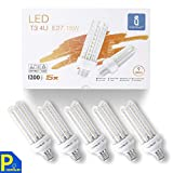 Aigostar - Ampoules LED B5 4U E27 (Grosse Vis), 15W Consommés Équivalent 120W,Lumière couleur chaude 3000K, Angle de 360°, 1200 lumens - Pack de 5 unités avec boite [Classe énergétique A+]