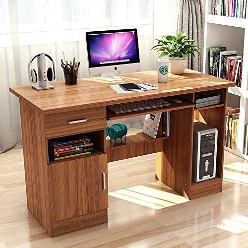 Living Equipment Escritorio de estudio Computadora portátil para el hogar Escritorio para computadora portátil con bandeja para teclado extraíble y cajones para la oficina en el hogar Mesa para PC