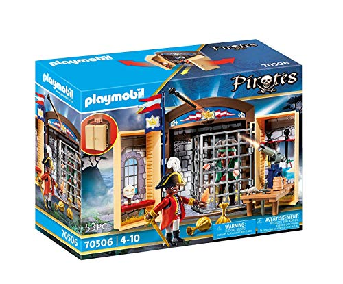 PLAYMOBIL Pirates 70506 - Play Box 'Avamposto della Marina con Pirata', dai 4 Anni