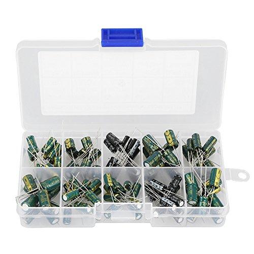 Hilitand 100 unids DIY Alto Grado Capacitor de Audio Capacitadores Electrolíticos Surtidos Kit 10 Valores 10V-63V 10uf-470uf