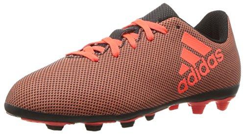 adidas Boys' X 17.4 FxG J Soccer Shoe, Black Red/Solar Orange, 4.5 M US Big Kid