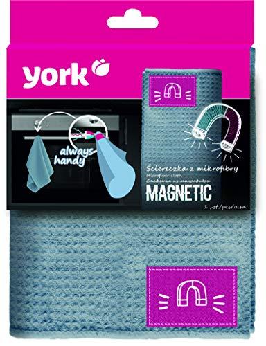 York Prestige Magnétique Prestige Serviette en Microfibre Gris Standard
