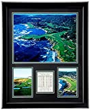 Pebble Beach Golf Course- The U.S. Open Collectible | Framed Photo Collage Wall Art Decor - 18'x22' | Legends Never Die