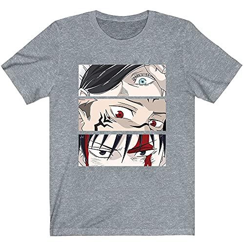 hellomiko Anime Jujutsu Kaisen Printed Round Neck T-Shirt Cozy Cotton Tops