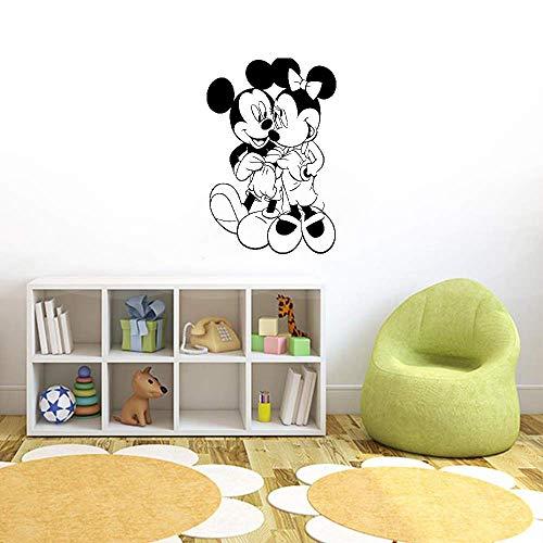 Décoration murale Mickey Minnie Mouse Mickey Mouse dessin animé Minnie Mouse maison enfants fille chambre de bébé décoration d'intérieur mignon murale