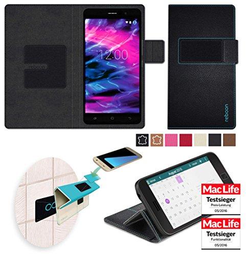 Hülle für Medion Life X5020 Tasche Cover Hülle Bumper | Schwarz Leder | Testsieger