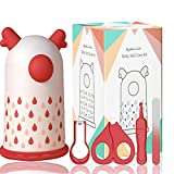 HyAdierTech Juego de cortaúñas para bebé - Juego de pedicura para bebé - Kit de aseo para bebé - Juego de cuidado para guardería con tijera de seguridad + Lima para uñas + Pinzas (white)