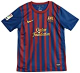 Nike - Camiseta del Barcelona para niño (temporada 2011/2012) Blue with Red stripes Talla:Boys Age 8-10 Small