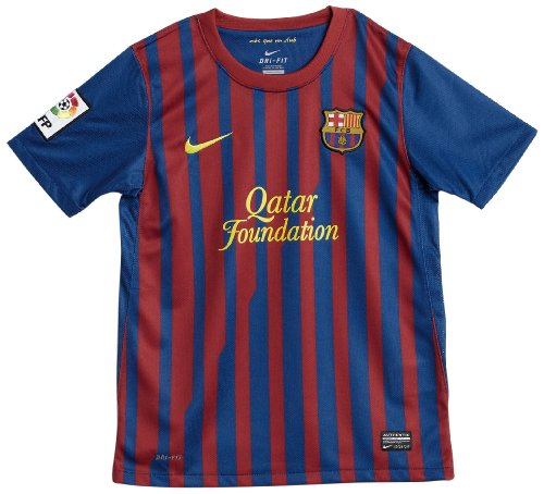 NIKE FCB BOYS' SS HOME REPLICA JERSEY (BOYS) - S