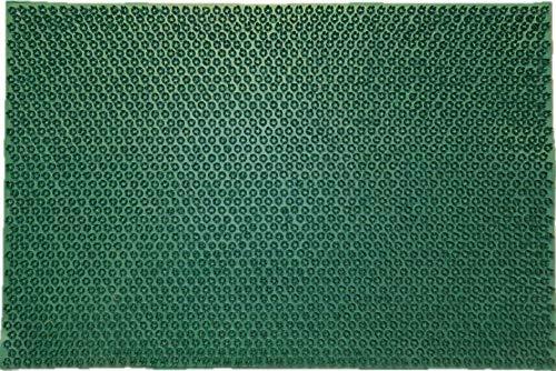 oKu-Tex deurmat deurmat rubberen mat schoenafveger rubber grasgroen weerbestendig voor buiten tuin balkon veranda 40x60 cm