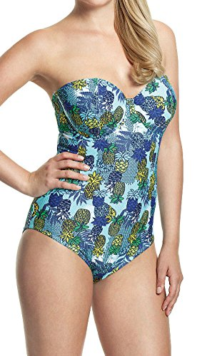 Cleo by Panache Women's Carmen Bandeau Swimsuit (CW0110),32E,Tropical Print