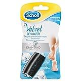 Scholl Velvet Smooth Repuesto Lima, Color Negro - 2 unidades
