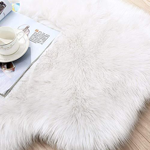 Hemore 60 x 90 cm weißer Schaffellteppich Als gezeigte Geschenke und Dekoration für die Veranstaltung