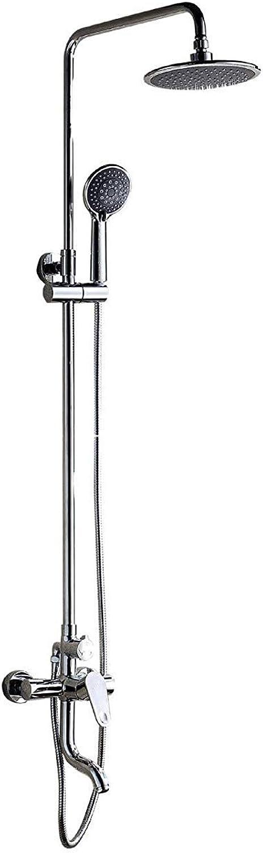 FFWFW Adjustable Riser Rail Thermostatic Bar Mixer Rain Head Shower Set,Photo