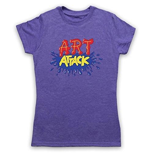 My Icon Art & Clothing Art Attack Kids TV Logo Buchanon Disfraz Camiseta para Mujer Morado Púrpura Vintage. 38