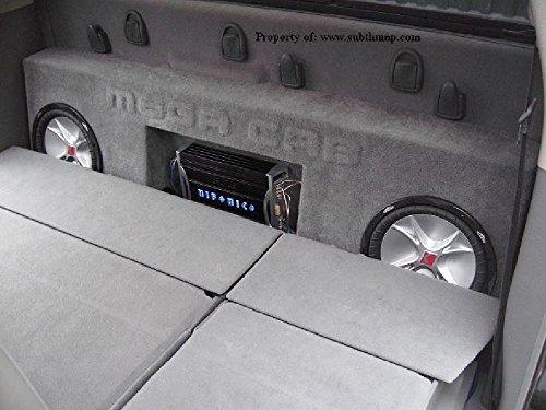 2006-2011 Ram Mega Cab Dual 12 Sub Box with Amp Space