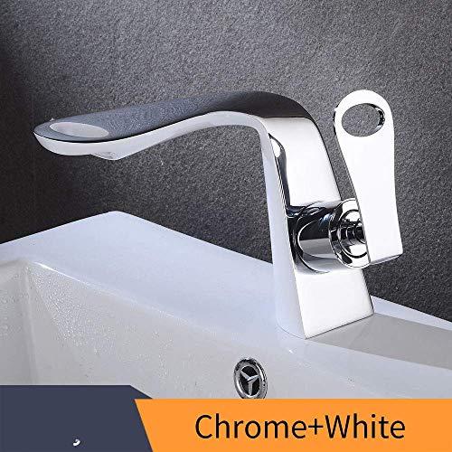 Wastafelarmatuur waterkraan voor wastafel zwart waterkraan voor wastafel groen koude mengkraan gemonteerd op het platform Chrome And White B