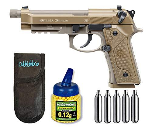 Outletdelocio.. Pistola Airsoft Umarex Beretta M9 A3 C02 Blowback Metalica. + Funda Portabalines + 1000 Bolas + bombonas Co2. 23054/21993/29318