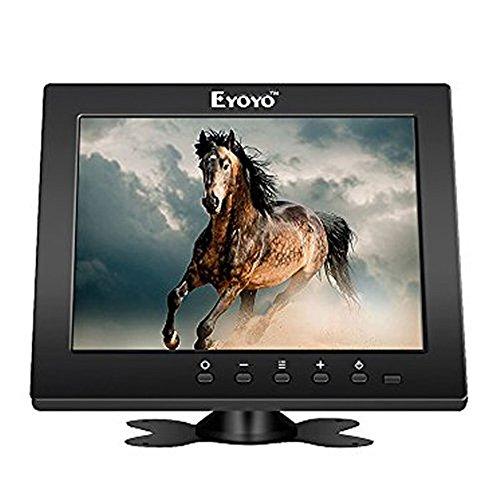 """Eyoyo 8""""pollici TFT LCD HD monitor a colori con VGA/HDMI/BNC/Funzione AV per auto DSLR & PC & DVD & Car fotografica di sostegno"""