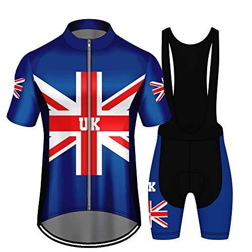 WAWNI Fashion Fietspakken Polyester UK Mannen fietsbroek met korte mouwen