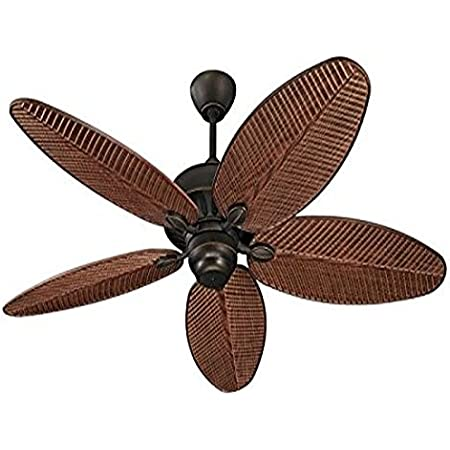 """Monte Carlo 5CU52RB Cruise Tropical 52"""" Outdoor Ceiling Fan, 5 ABS Palm Leaf Blades, Roman Bronze"""