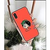 Fundas de teléfono para iPhone 8, 7, 6, 6S, Plus, X, XS, Max, XR 11, Pro Max, de poliuretano termoplástico (TPU), diseño de anime My Hero Boku no Hero Academia
