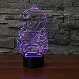 3D Led 7 Colores Cambiantes Acrílico Música Drum Set Mesa Lámpara De Escritorio Usb Dormitorio Decoración De Noche Regalos Para Niños Dormir Iluminación Nocturna