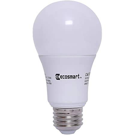 Ecosmart 60w Equivalent Soft White A19 Non Dimmable Led Light Bulb Pack Of 24 Amazon Com