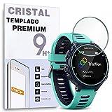 REY Protector de Pantalla para Garmin Forerunner 735XT, Cristal Vidrio Templado Premium