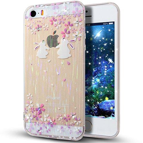 Para iPhone 6S/6, iPhone 6S caso, 6S funda, iPhone 6S carcasa, Birdcage NSSTAR floral multicolor interiores brillantes diseño silicona transparente para iPhone 6S/6 11,94 cm , A14, Apple iPhone 5S iPhone 5