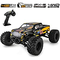 Bezgar 1 Hobbyist Grade 1:12 Scale Remote Control Truck Toy with 2 Rechargeable Batteries