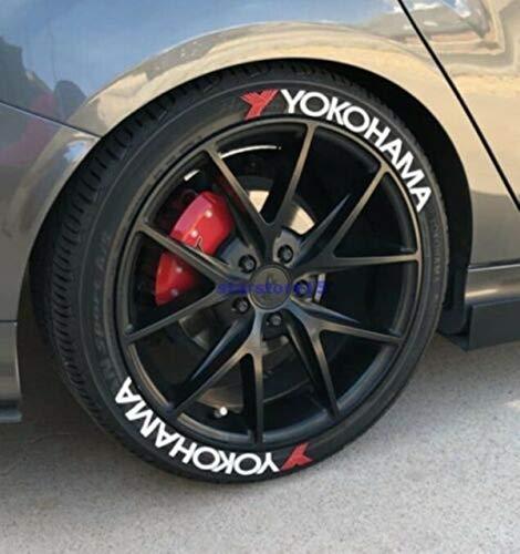 Yokohama - Pegatinas permanentes para neumáticos de 1 pulgada para ruedas de 14 a 22 pulgadas, 8 unidades
