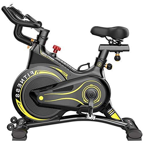 YUANP Bicicleta Estática para Interiores Bicicleta Giratoria Entrenamiento Cardiovascular con Volante Impulsado por Cinturón Manillar Ajustable En Bicicleta Resistencia del Asiento