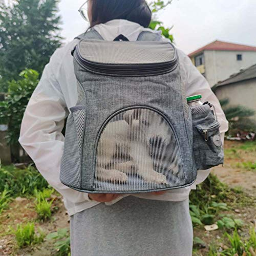 WANGIRL Portátil Portátil Portador de Viaje Mochila Bolsa de Transporte Malla Completa Transpirable Transportín Jaula Capazos Transportadoras Plegable Viaje Coche for Mascotas Perros Gatos Mochila