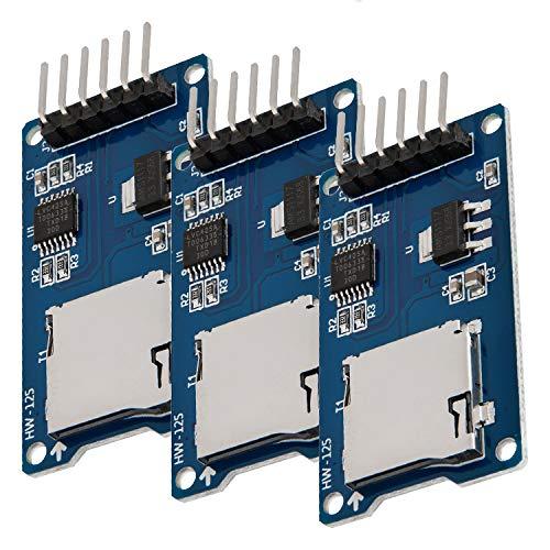 AZDelivery 3 x Set SPI Reader Micro Speicher SD TF Karte Memory Card Shield Modul kompatibel mit Arduino inklusive E-Book!