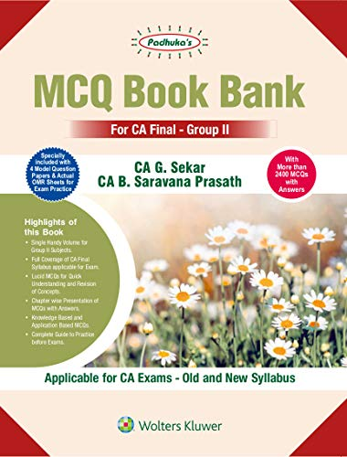 PADHUKAS MCQ BOOK BANK CA FANAL GROUP 2 (APPLICABLE FOR BOTH OLD & NEW SLY)