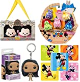 Spring Bunnies Color Pop Mini Figures Exclusive Pack Bundled with World Plush Characters Tsum Travelers Bean Mickey & Minnie Mouse Hollywood Pack 2 Disney Stuffed Figures + Pocahontas Pocket Keychain