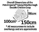 Chicken Coops Imperial®- Hühnerstall Marlborough - groß - für 6 bis 8 Hühner Je nach Größe - sehr leicht zu reinigen