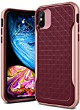 Caseology [Apex Series] iPhone XS/iPhone X Case - [3D Pattern Design] - Burgundy