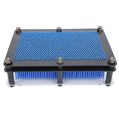 Asixxsix Pin Art Toy, Vintage Sculpture Board Toy, innovativer Desktop für Kinder(Blue, Medium)
