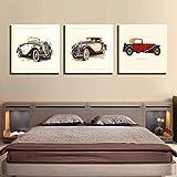 Grande Cuadro Sobre Lienzo Bodegón De Coches Antiguos Poster Wall Art Modular Pictures Living Room Home Decor Artwork Gift Cuadro Sobre Lienzo - Impresión En Lien (30*30Cm)*3 Piezas.