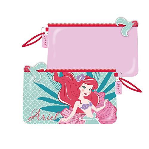 ARDITEX WD12577 Neceser de 24x14cm con Bolsillo de Disney-Princesas